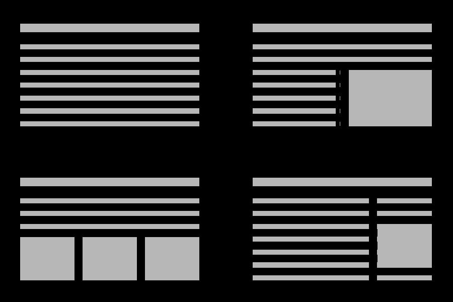 Skapa layoutmallar att jobba från för att få en mer enhetlig webbdesign