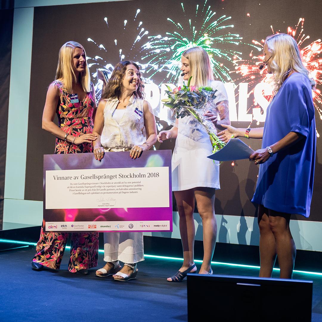 Vinnare under Di Gasell, Gasellsprånget Stockholm