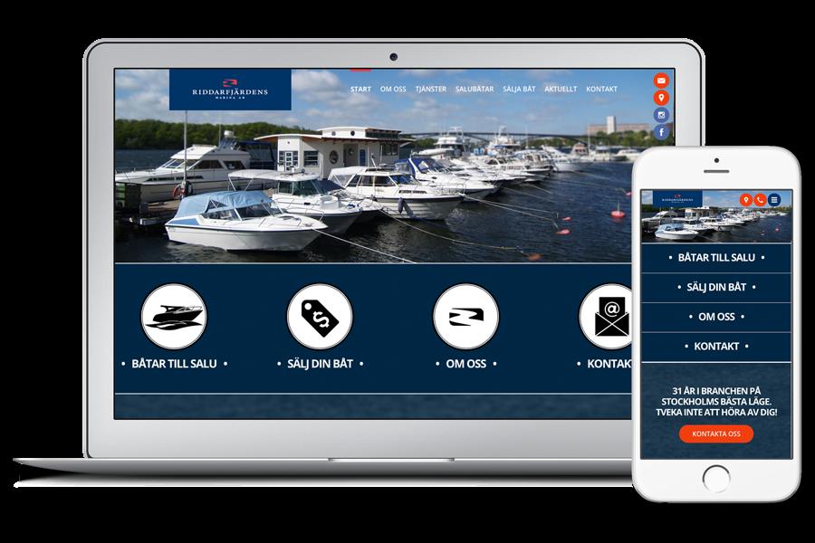 Exempel på en responsiv hemsida